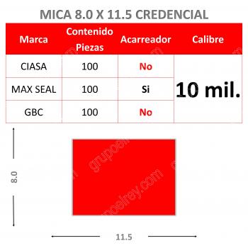 MICA TERMICA 8.0 x 11.5