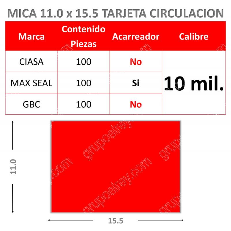 MICA TERMICA 11.0 x 15.5