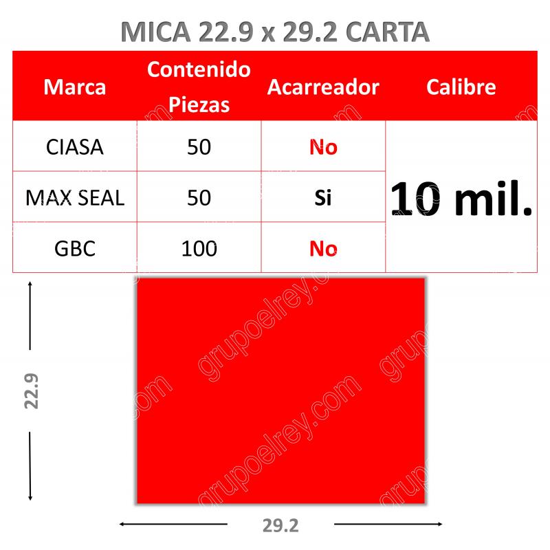 MICA TERMICA 22.9 xs 29.2