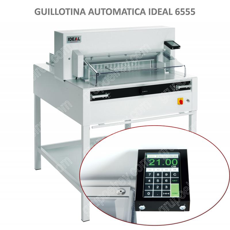 Guillotina semiautomatica ideal 6555 95 ep grupo el rey for Guillotina oficina