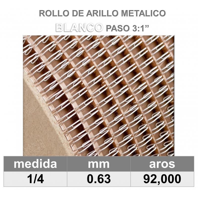 BOBINA / ROLLO 1/4 BLANCO