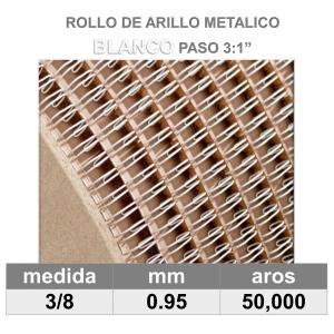 BOBINA / ROLLO 3/8 BLANCO