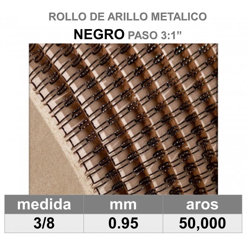 BOBINA / ROLLO 3/8 NEGRO
