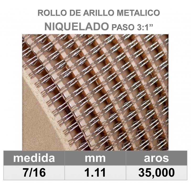 BOBINA / ROLLO 7/16 NIQUELADO