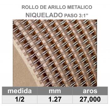 BOBINA / ROLLO 1/2 NIQUELADO