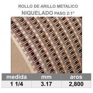 BOBINA / ROLLO 1 1/4 NIQUELADO