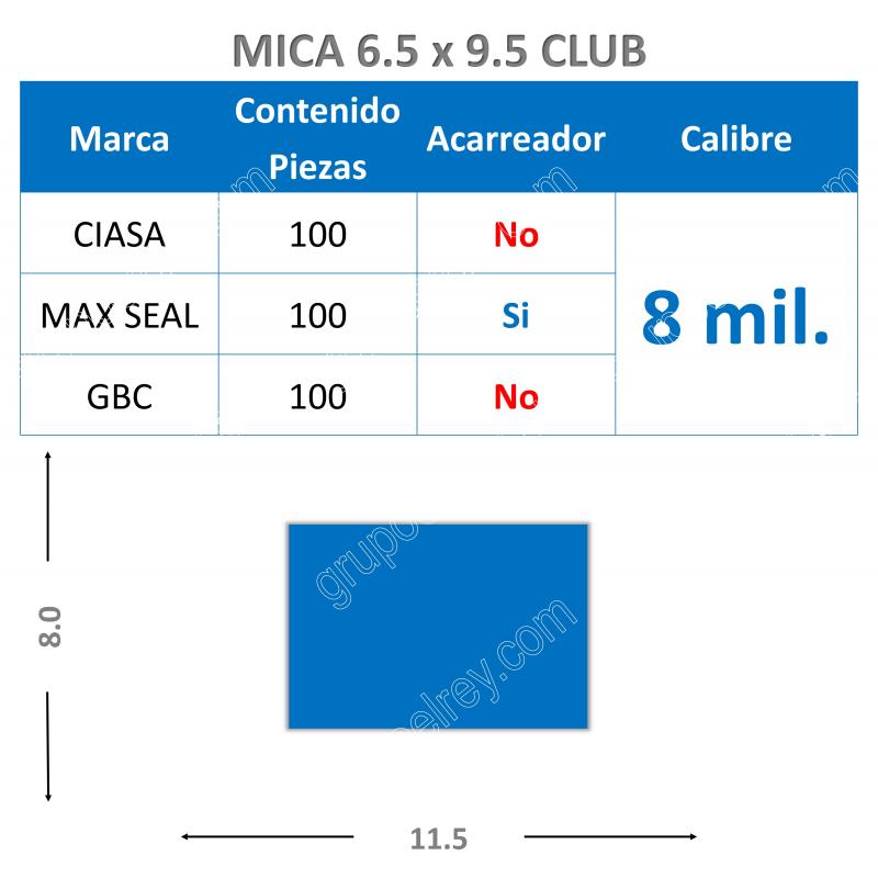 MICA TERMICA 8 mm 6.5 x 9.5
