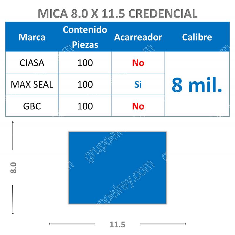 MICA TERMICA 8 mm 8.5 x 11.5