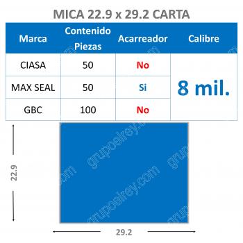 CARTA 22.9 xs 29.2 / 8 Mil.