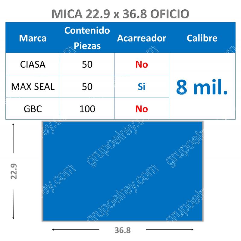 OFICIO 22.9 xs 36.8 / 8 Mil.
