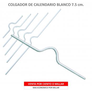 COLGADOR CALENDARIO BLANCO 7.5