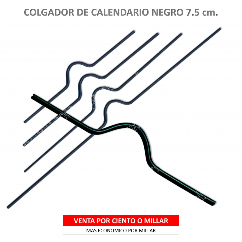 COLGADOR CALENDARIO NEGRO 7.5