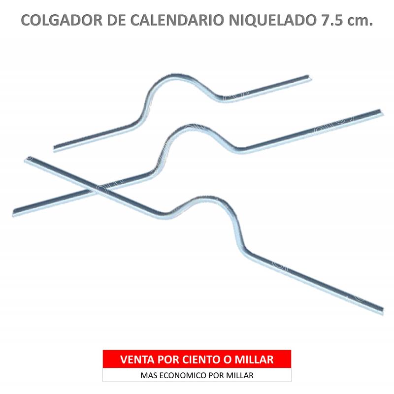 COLGADOR CALENDARIO NIQUELADO 7.5