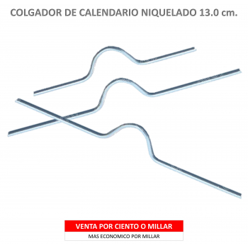 COLGADOR CALENDARIO NIQUELADO 13.0