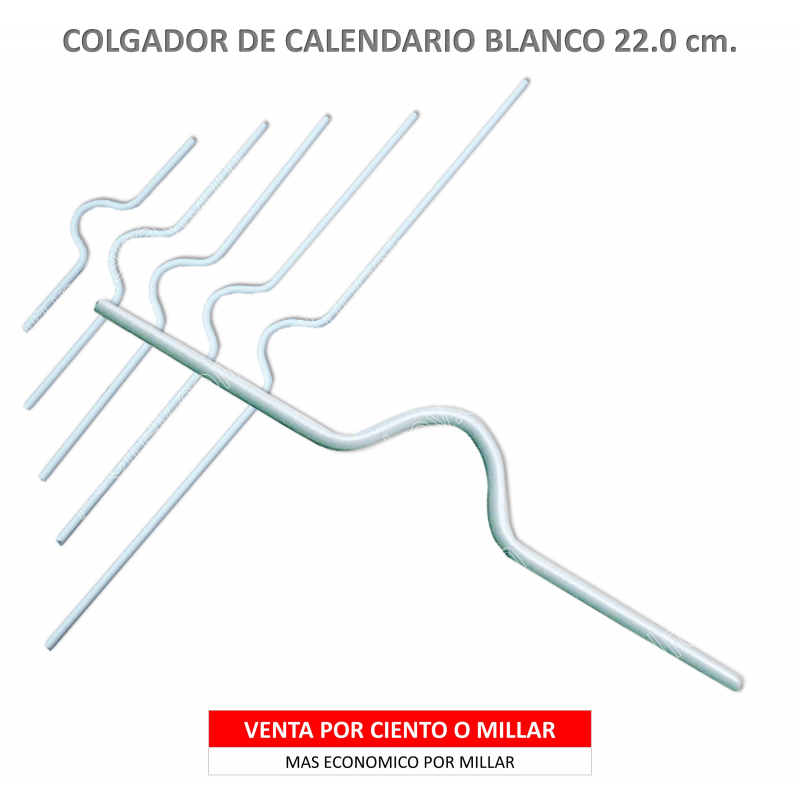 COLGADOR CALENDARIO BLANCO 22.5
