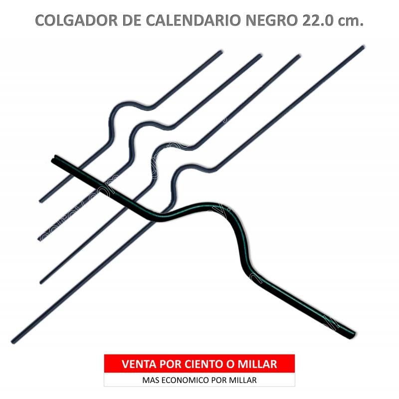 COLGADOR CALENDARIO NEGRO 22.5