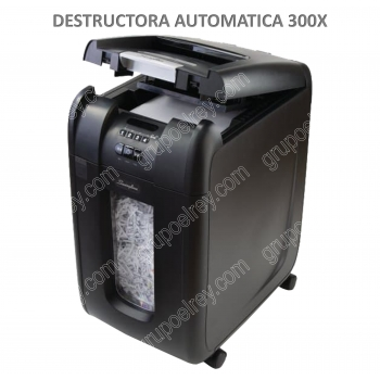 DESTRUCTORA AUTOMATICA DE DOCUMENTOS 300X