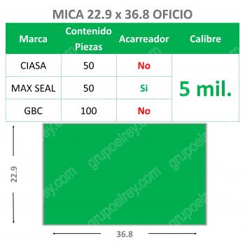 MICA TERMICA OFICIO 5mm