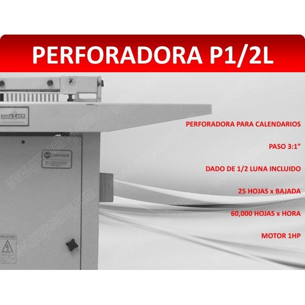 PERFORADORA DE 1/2 LUNA PARA CALENDARIOS